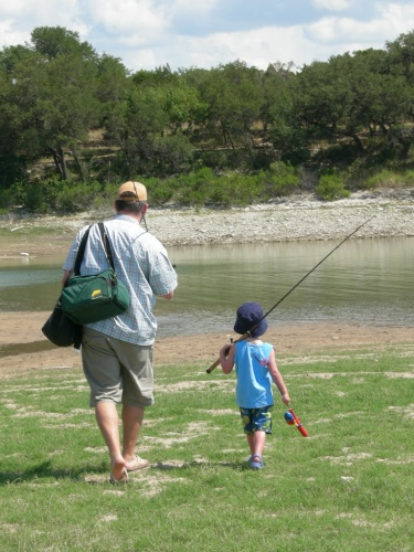 Jack and Daddy Fishing